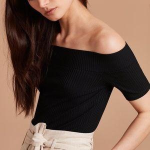 Aritzia Wilfred Tournesol Off the Shoulder Shirt
